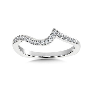 Diamond and 14K White Gold Wedding Ring (0.12 ct. tw.)