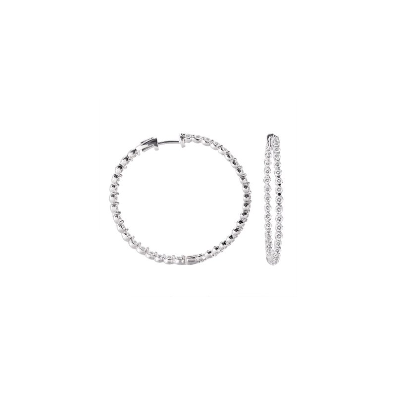 S. Kashi  & Sons Diamond Hoop Earring 37mm