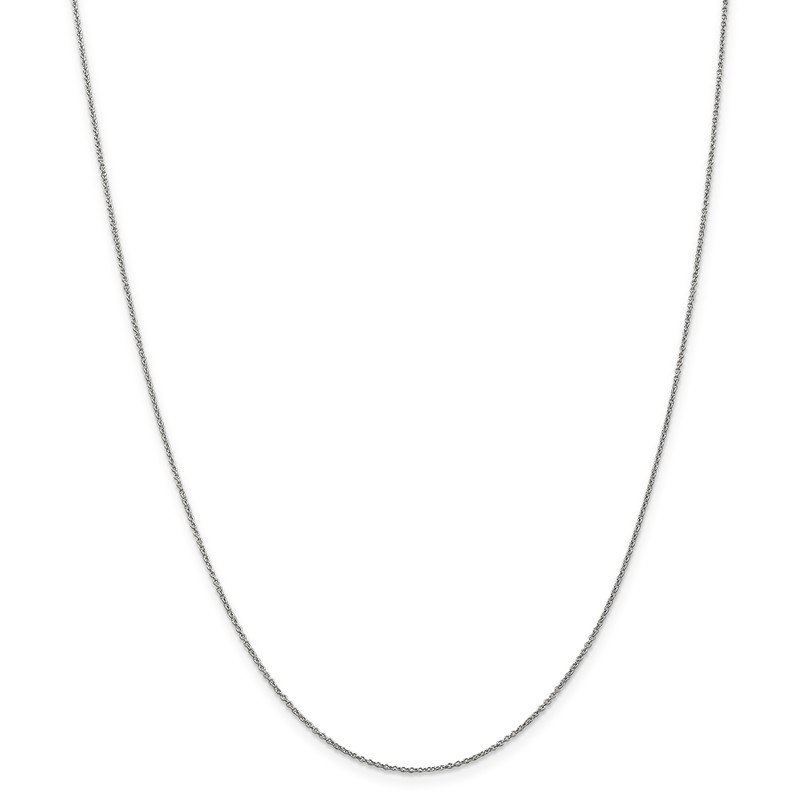 Leslie's Leslie's 14K White Gold .9 mm Round Cable Chain