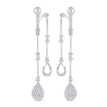 14K Diamond Front / Back Earrings