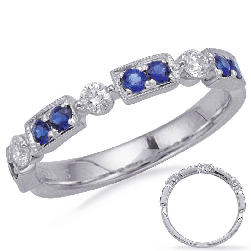 S. Kashi  & Sons White Gold Sapphire & Diamond Ring
