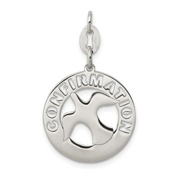 Sterling Silver Polished Confirmation Dove Charm