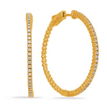 Yellow Gold 1.45 Inch Securehinge Hoop