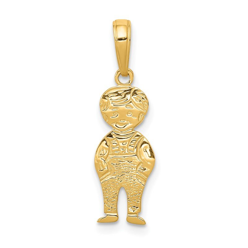 Quality Gold 14K Boy with Hands in Pocket Pendant