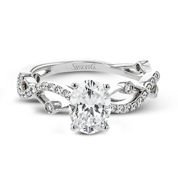 LR2207-OV ENGAGEMENT RING
