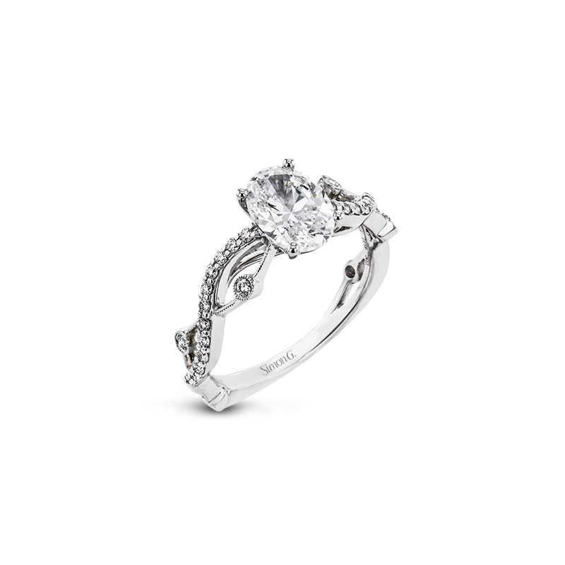 Simon G LR2207-OV ENGAGEMENT RING