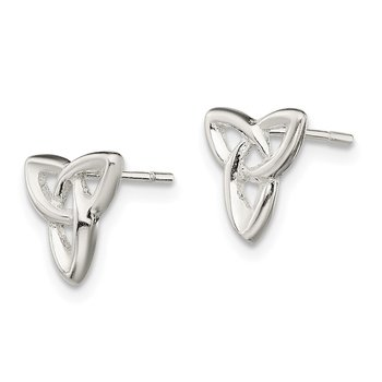 Sterling Silver Trinity Post Earrings