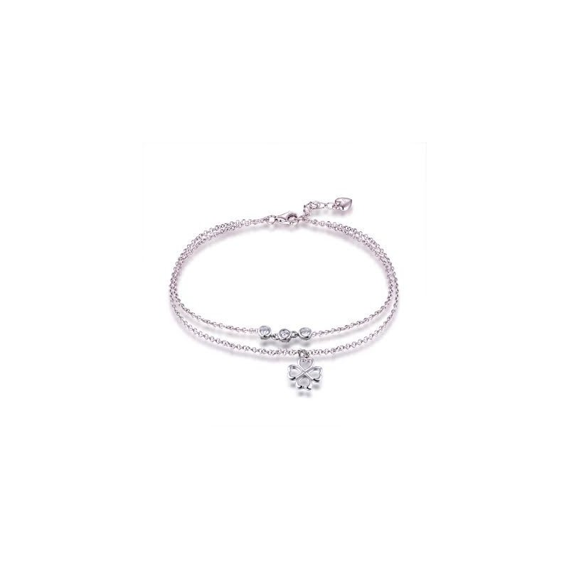 LARUS Jewelry Four Leaf Clover Anklet