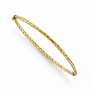 Leslies 14k 2.35mm Twist Hinged Bangle