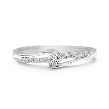 Diamond Ring with Pave Diamonds