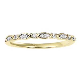 10KY Diamond Mixable Ring 1/12 ctw