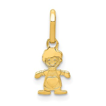 14k Polished Little Boy Pendant