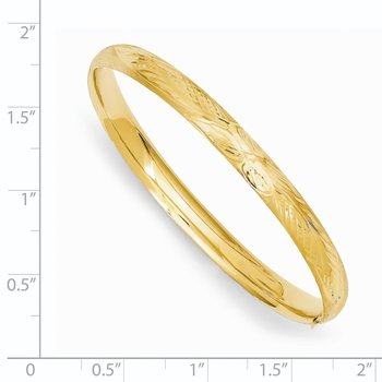 14k Florentine Hinged Baby Bangle
