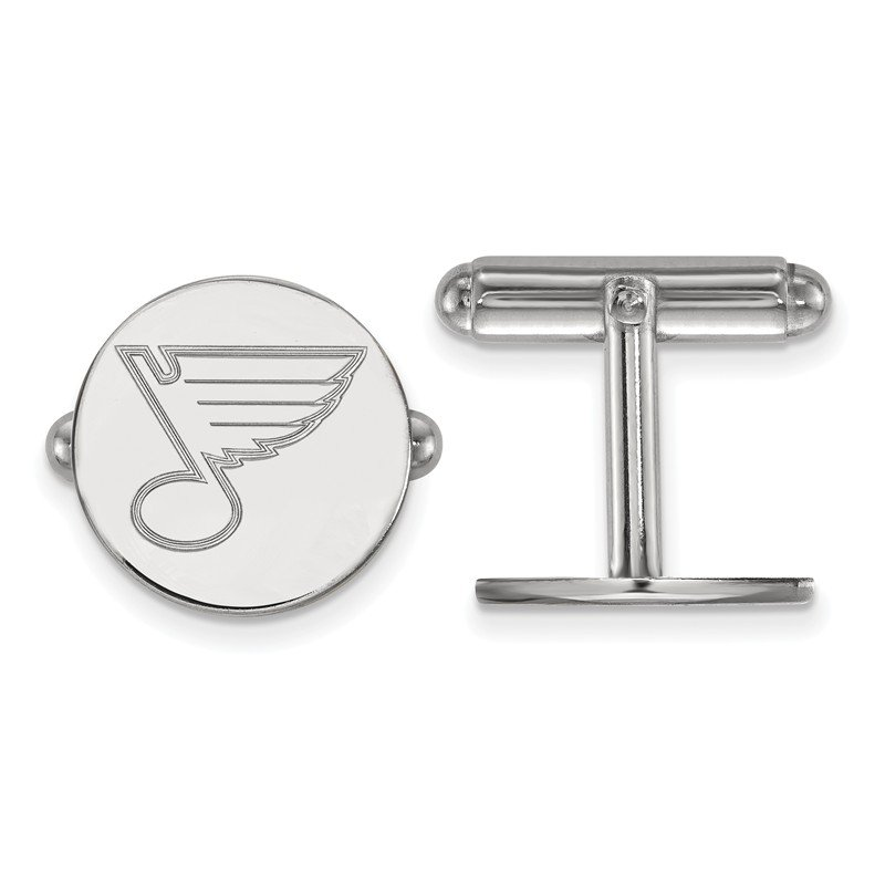 NHL Sterling Silver St. Louis Blues NHL Cuff Links