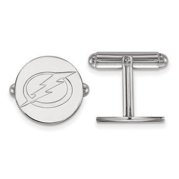 Sterling Silver Tampa Bay Lightning NHL Cuff Links