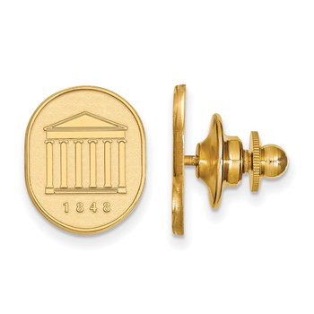 Gold University of Mississippi NCAA Lapel Pin