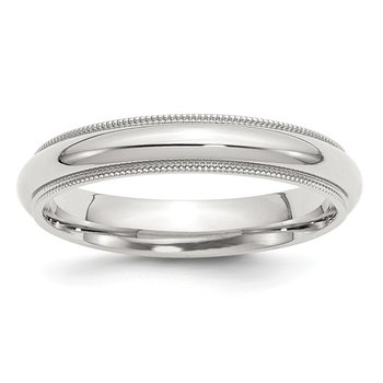 Sterling Silver 4mm Milgrain Comfort Fit Band