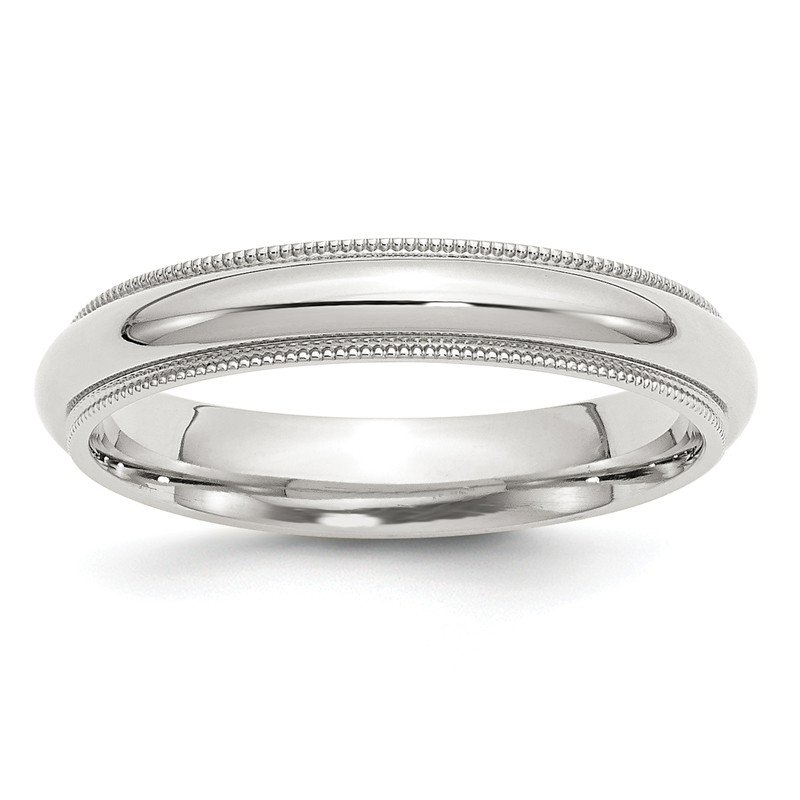 Quality Gold Sterling Silver 4mm Milgrain Comfort Fit Band
