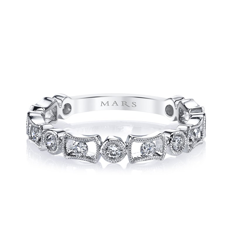 MARS Jewelry MARS 26211 Stackable Ring, 0.38 Ctw.