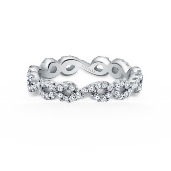 Kirk Kara 18K White Gold Diamond Eternity Engagement Ring