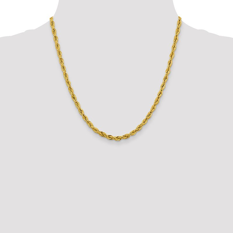 Quality Gold 14ky 4.25mm Semi-Solid Rope Chain