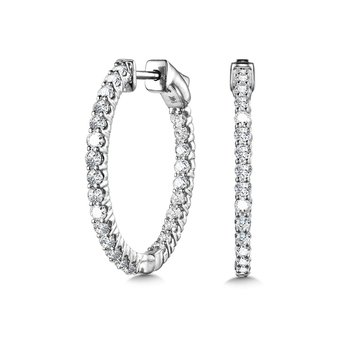 Bold Front-Facing Round Diamond Hoops