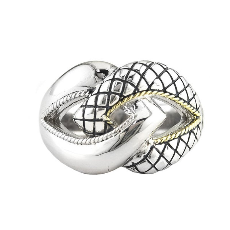 Andrea Candela 18kt and Sterling Silver Ring