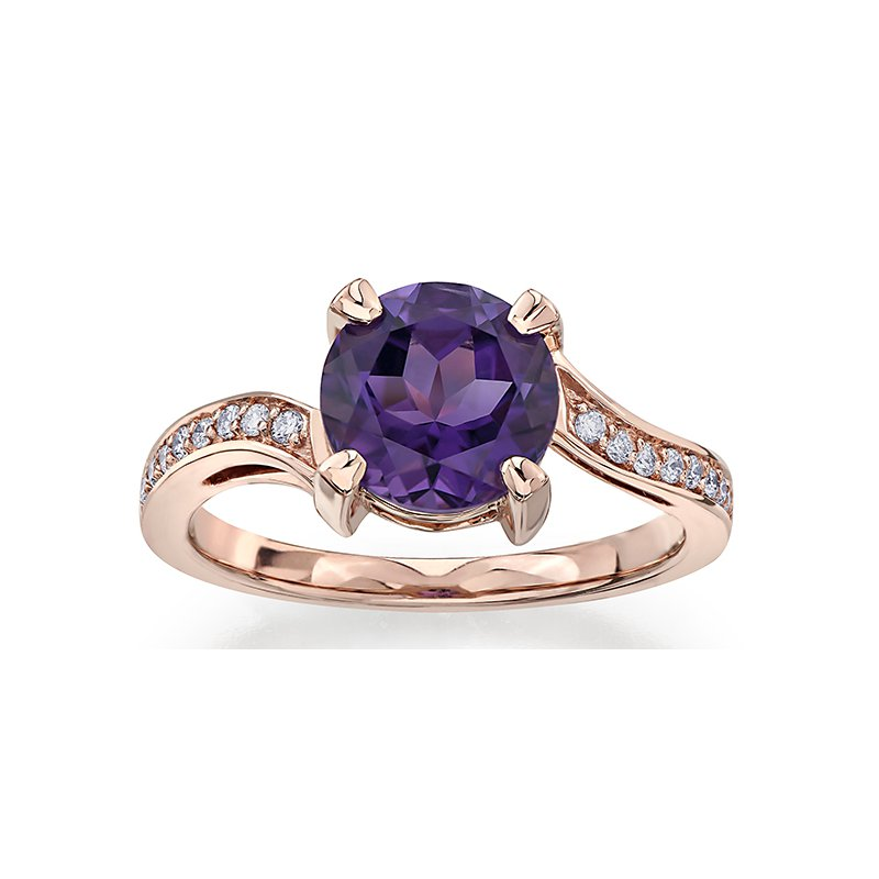 Lasting Treasures™ Amethyst Ladies Ring