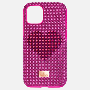Crystalgram Heart Smartphone Case with Bumper, iPhone® 11 Pro, Pink