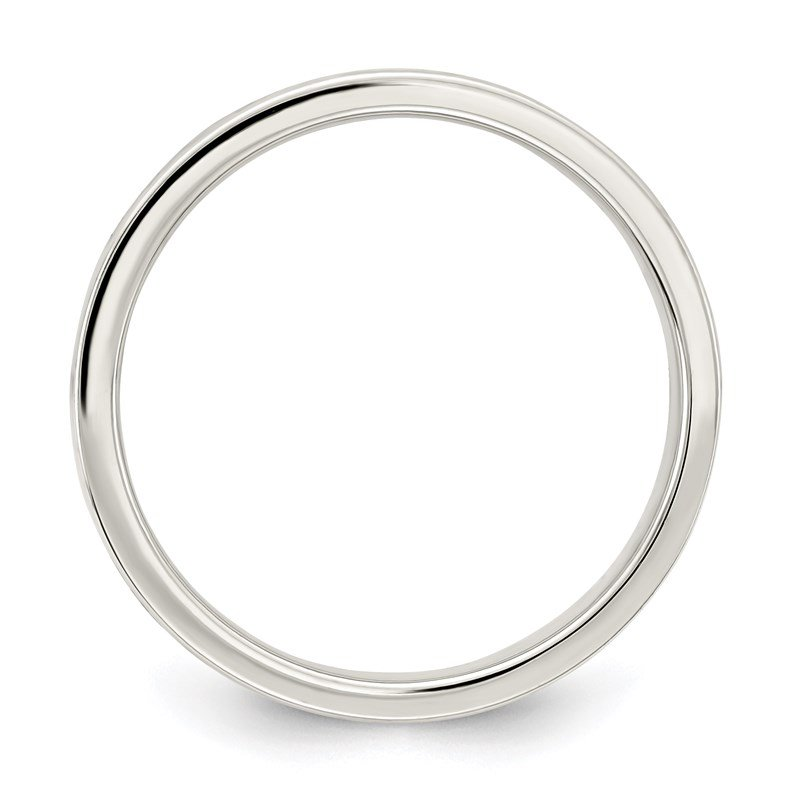 Quality Gold Sterling Silver 4mm Flat Band
