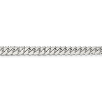 Sterling Silver 6.4mm Polished Domed Curb Chain