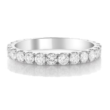 Classic White Diamond Eternity Band