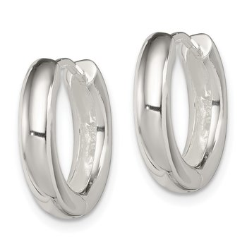 Sterling Silver Polished Hinged Hoop Earrings