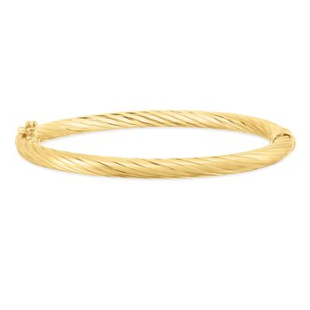 14K Yellow Gold Twist Bangle
