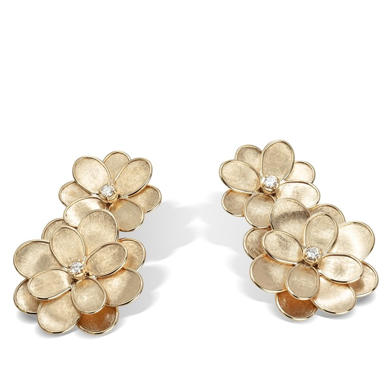 Marco Bicego Petali Double Flower Drop Earrings