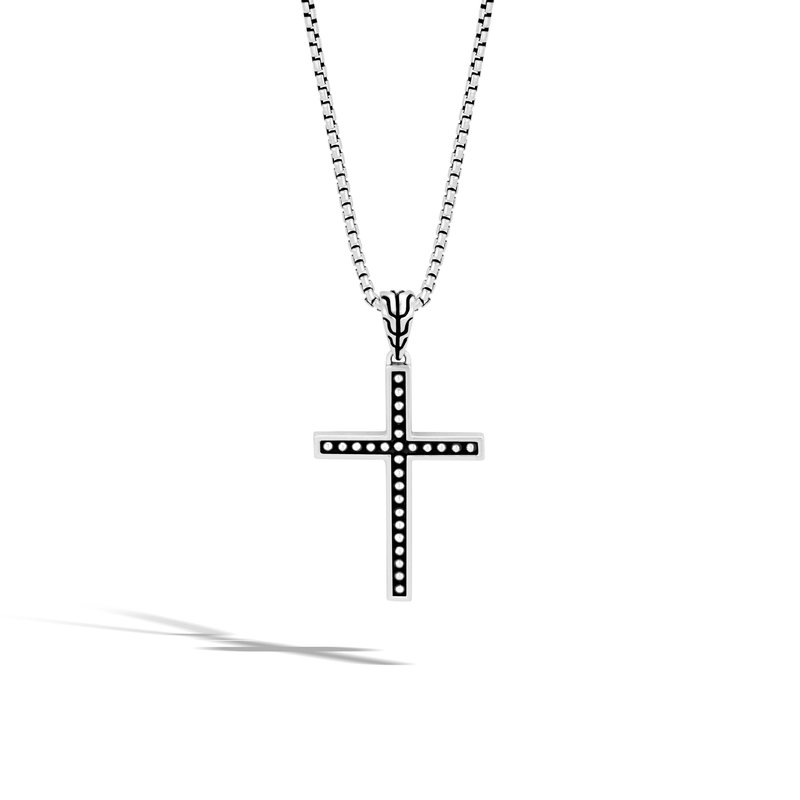 JOHN HARDY Chain Jawan Cross Pendant in Silver