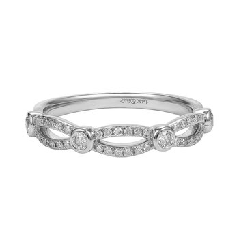 Diamond band in 14K gold and diamonds 0.32ct