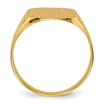 14k 14.0x12.5mm Closed Back Men's Signet Ring