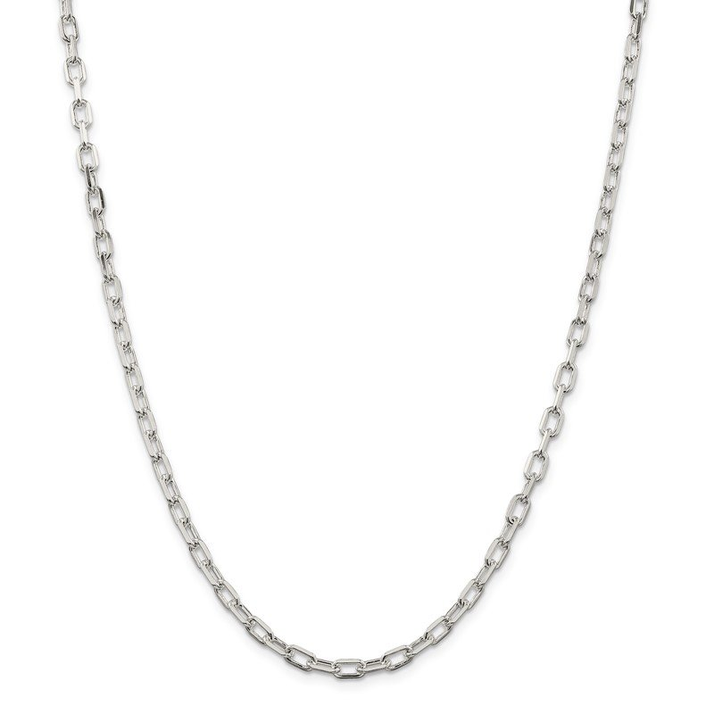 Quality Gold Sterling Silver Rhodium Plated Diamond-cut Open Link Cable Chain