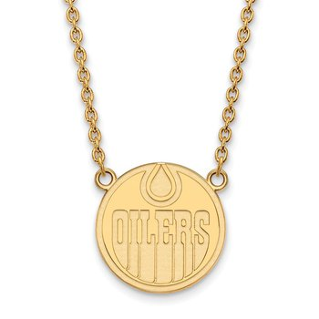 Gold Edmonton Oilers NHL Necklace