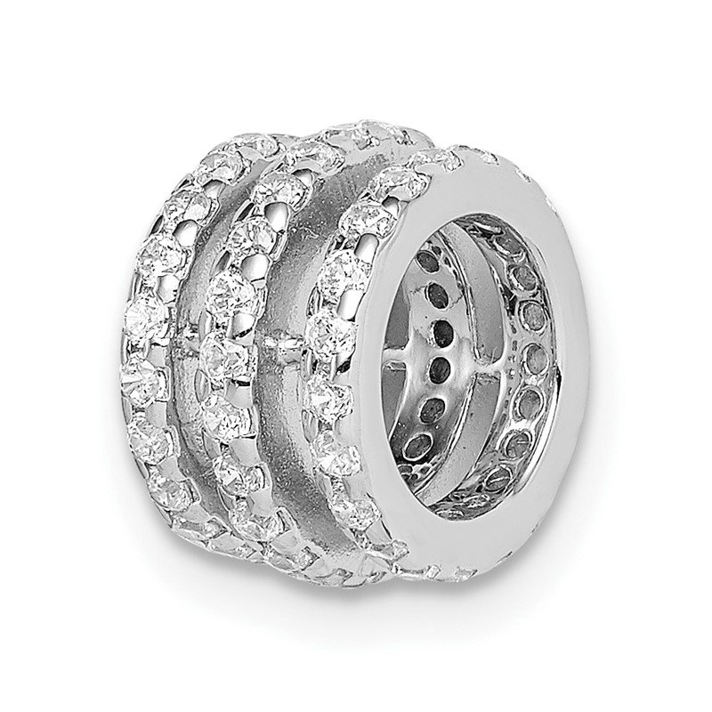 Lester Martin Online Collection Sterling Silver Rhodium Plated CZ Slide