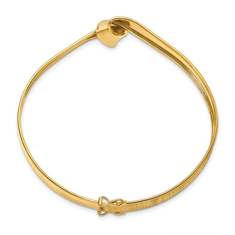 Leslie's Leslie's 14K Polished Brushed Twisted Bangle