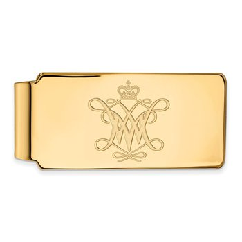 Gold College of William & Mary NCAA Money Clip