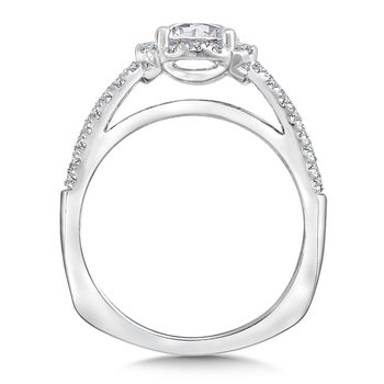 Halo Engagement Ring Mounting in 14K White Gold (.29 ct. tw.)