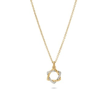 Classic Chain Star of David Necklace in 18K Gold, Diamonds