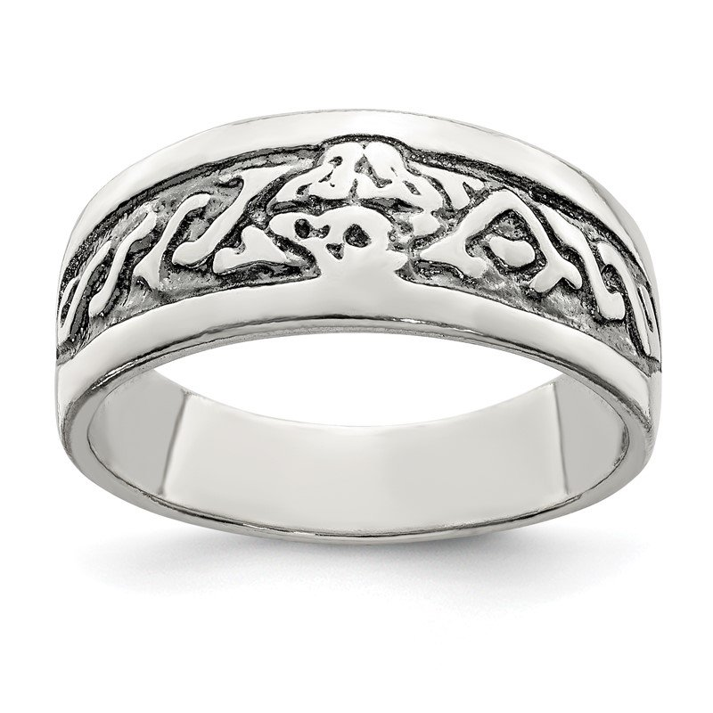 Quality Gold Sterling Silver Antiqued Ring