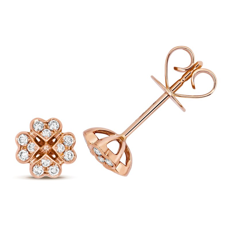Treasure Diamond Stud Earrings