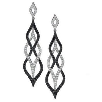Gothica Black & White Diamond Earrings