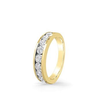 14K Yellow Gold Diamond Eternity Vintage Band
