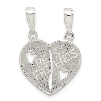 Sterling Silver Best Friends Break apart Heart